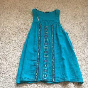 Teal Ella Moss Linen Shirt
